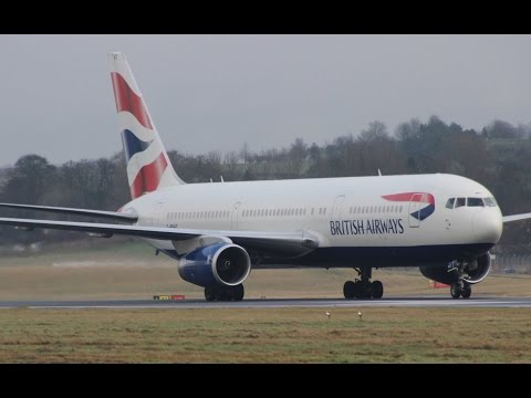 *Amazing Sound!* British Airways Boeing 767-300ER Landing & Takeoff at Edinburgh Airport