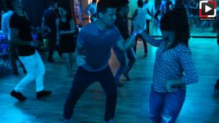 Leonilee Vargas y Carlos social dance at Salsa Dura Houston