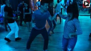 Leonilee Vargas y Carlos social dance at Salsa Dura Houston