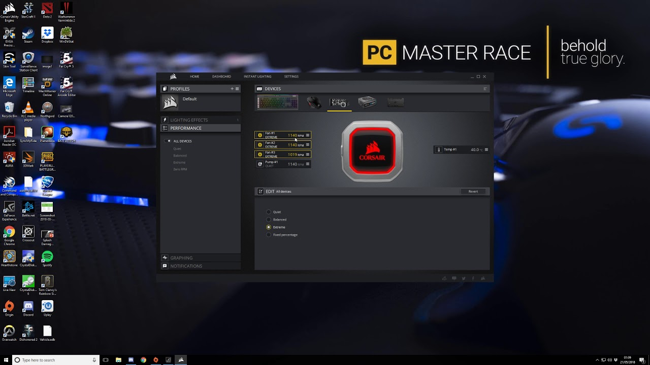 Corsair iCue, commander pro not changing fan speed