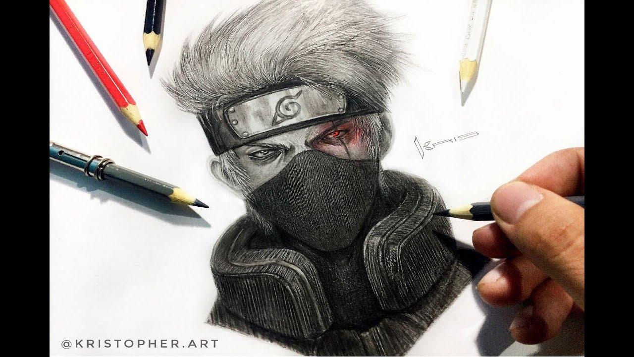 Dibujos De Kakashi Para Colorear: Realistic Drawing Kakashi