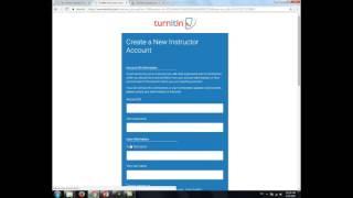 turnitin การลงทะเบียนบัญชีผู้ใช้ (Register)