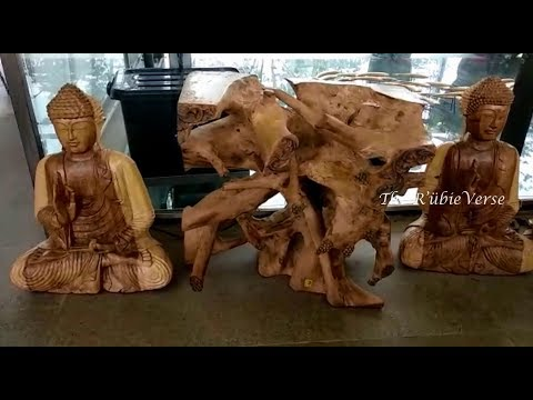 Wooden Carved Buddha Statues