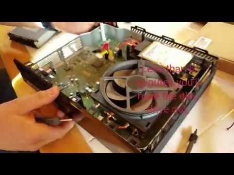 Xbox One disassembly, disc drive grinding (repaired) and clean heat sink cooling fins $ save$