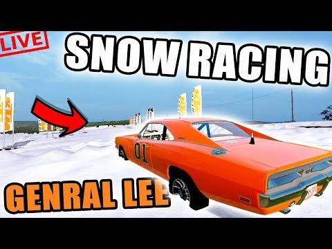 GENERAL IN THE SNOW?? | SNOW TRACK RACING | MULTIPLAYER | FARMING SIMULATOR 2017