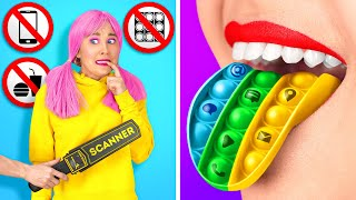 FUN WAYS TO SNEAK ANYTHING ANYWHERE || DIY Crazy Sneaky Tricks And Tips By 123 GO Like!