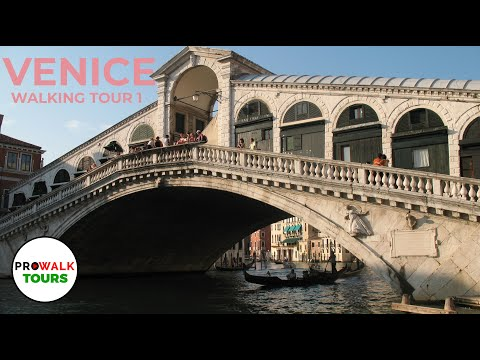 Venice, Italy Walking Tour Part 1 Of 6