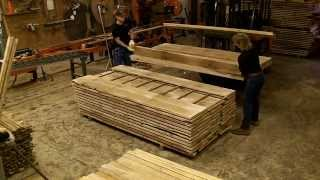 How To Stick Lumber For Drying, Oak Milled On Wood-mizer Sawmill