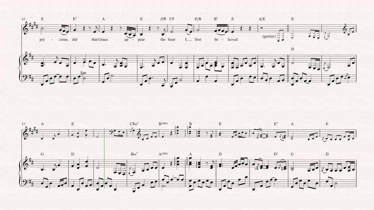 Trumpet Amazing Grace Alan Jackson Sheet Music Chords