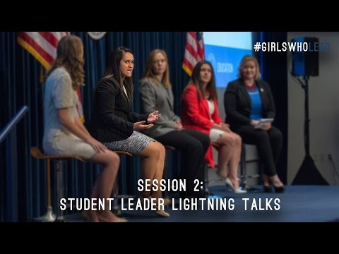 Session Two: Student Leader Lightning Talks — Young Women's Leadership Summit 2016
