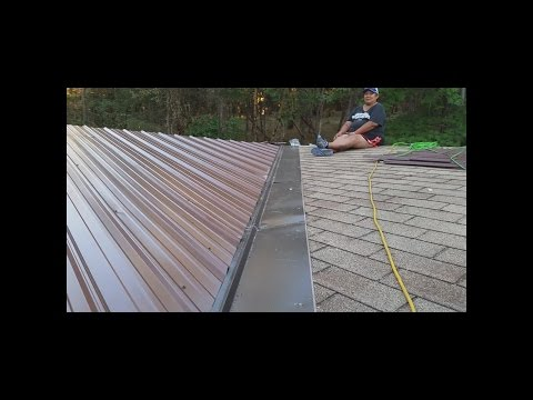 Installing a Metal Roof on a Double Wide Mobile