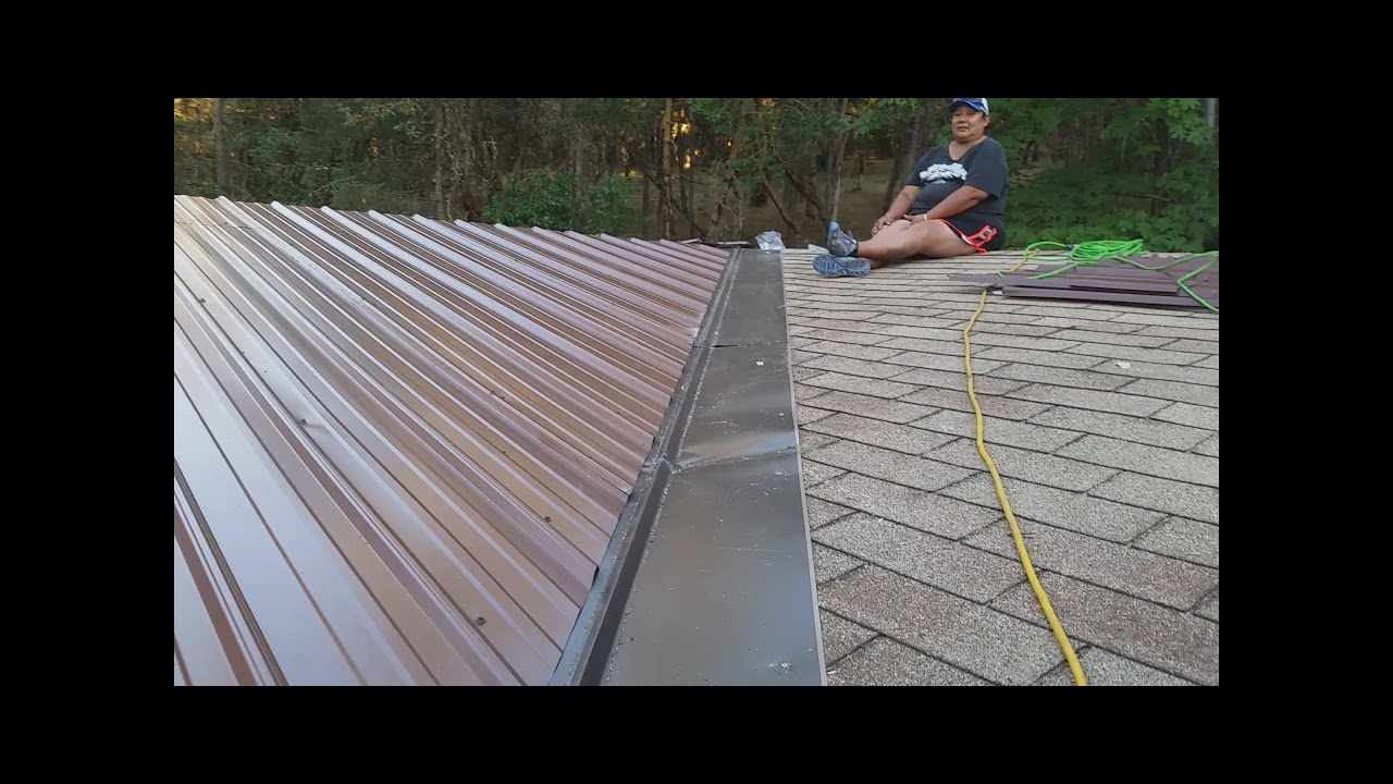 Installing a Metal Roof on a Double Wide Mobile - YouTube on silver gray metal roof home, metal roof over mobile home, sheet metal on mobile home, building onto a mobile home, shutters on mobile home, cool seal roof mobile home, rolled metal roof mobile home, storm windows on mobile home, install metal roof mobile home, mobile homes log home, rain gutters on a mobile home, metal roof home value, soft metal roof mobile home, eaves on mobile home, dome roof over mobile home, tin roof for mobile home, concrete slab on mobile home, canopy on mobile home, best roof for mobile home, trusses on mobile home,