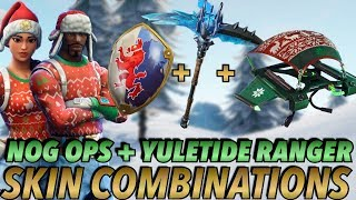 """NOG OPS + YULETIDE RANGER "" SKIN BEST BACKBLING + SKIN COMBOS! (Season 7) (Fortnite) (2018)"