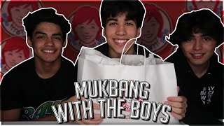 mukbang with the boys