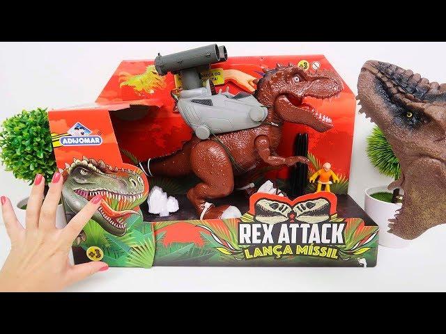 Novo Dinossauro Rex Attack Lança Míssil do Seu Dinossauro