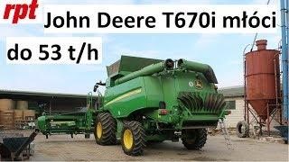 John Deere T670i osiąga 53 t/h w pszenicy 8,3 t/ha