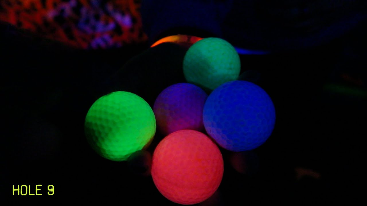 GLOW IN THE DARK MINI GOLF! - YouTube