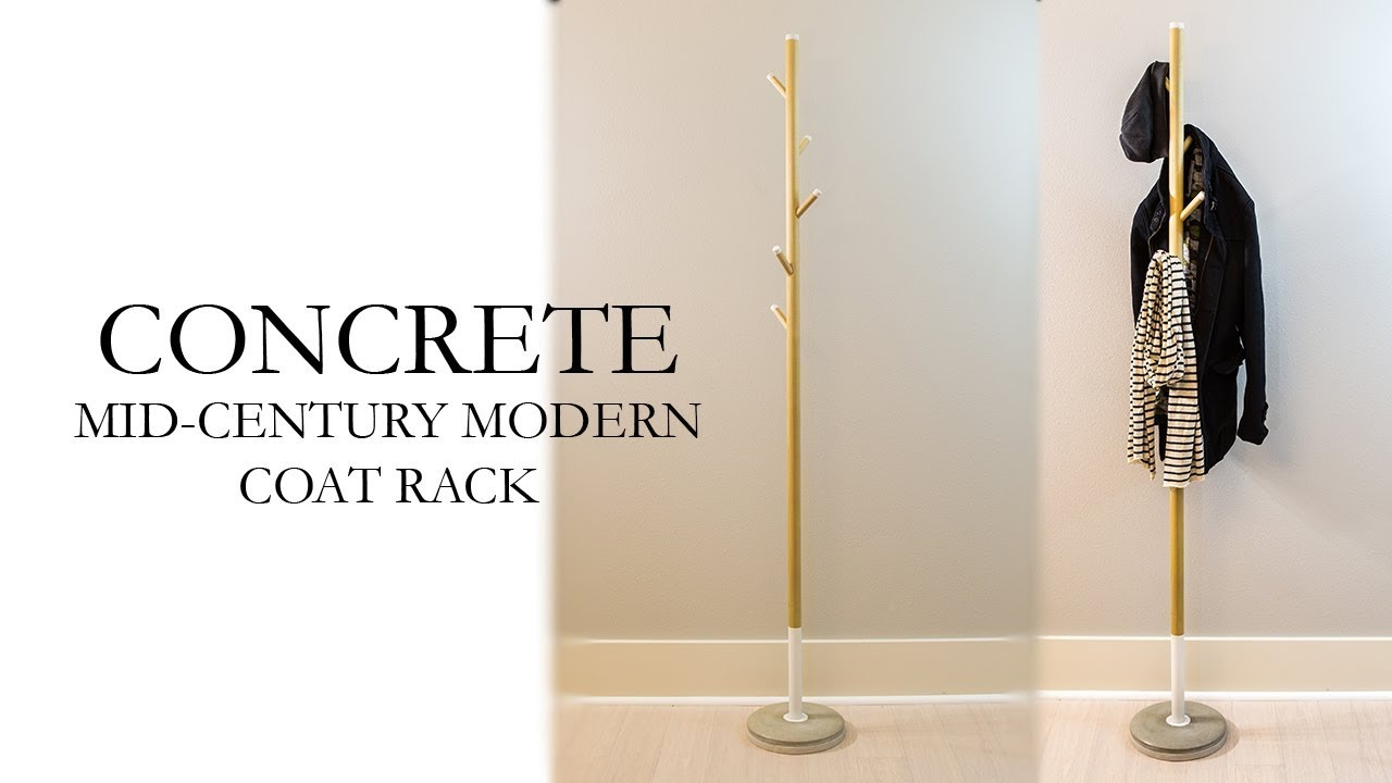Concrete Mid Century Modern Coat Rack Diy