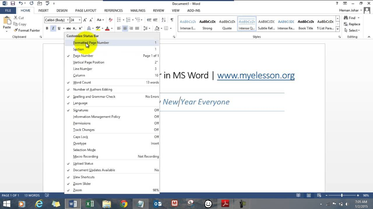 Ms Word Book In Hindi