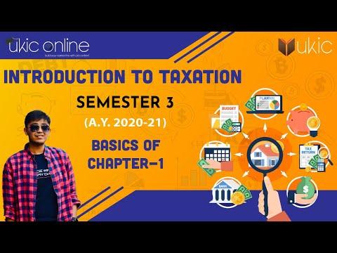 Taxation B Com Introduction Ch-1 Gujarat,GLS, Saurashtra University  Sem-3   Dr. Udayan Kachchhy