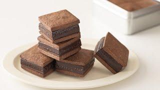 バレンタインに!生チョコクッキーサンドの作り方 ラッピングあり Nama Chocolate With Chocolate  Cookie|HidaMari Cooking