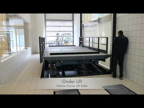 Vehicle Carrier Lift Table - Onder Lift - Hidden Rails