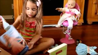 Opening American Girl Doll Bitty Baby Ballerina Outfit