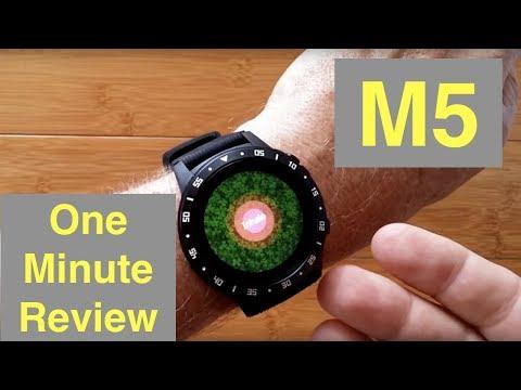 anmino-m5-gps,-blood-pressure,-breath-training-ip67-waterproof-smartwatch:-one-minute-overview