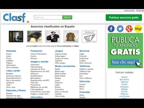 Poner anuncio gratis en internet doovi for Poner anuncio en milanuncios