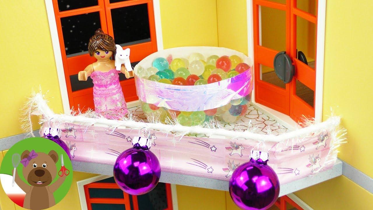 DIY Playmobil | Awent w luksusowej willi Stelli | dekoracja świąteczna willi Playmobil