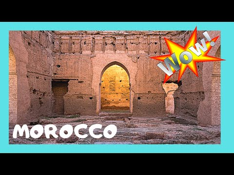 MARRAKECH, the ruins of the spectacular 16th century EL BADI PALACE (MOROCCO)