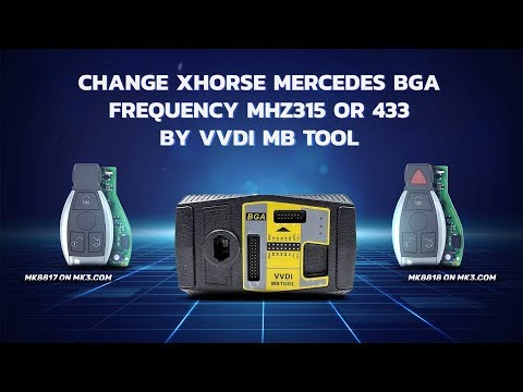 Change Xhorse Mercedes BGA Frequency Mhz315 or 433 BY VVDI MB tool