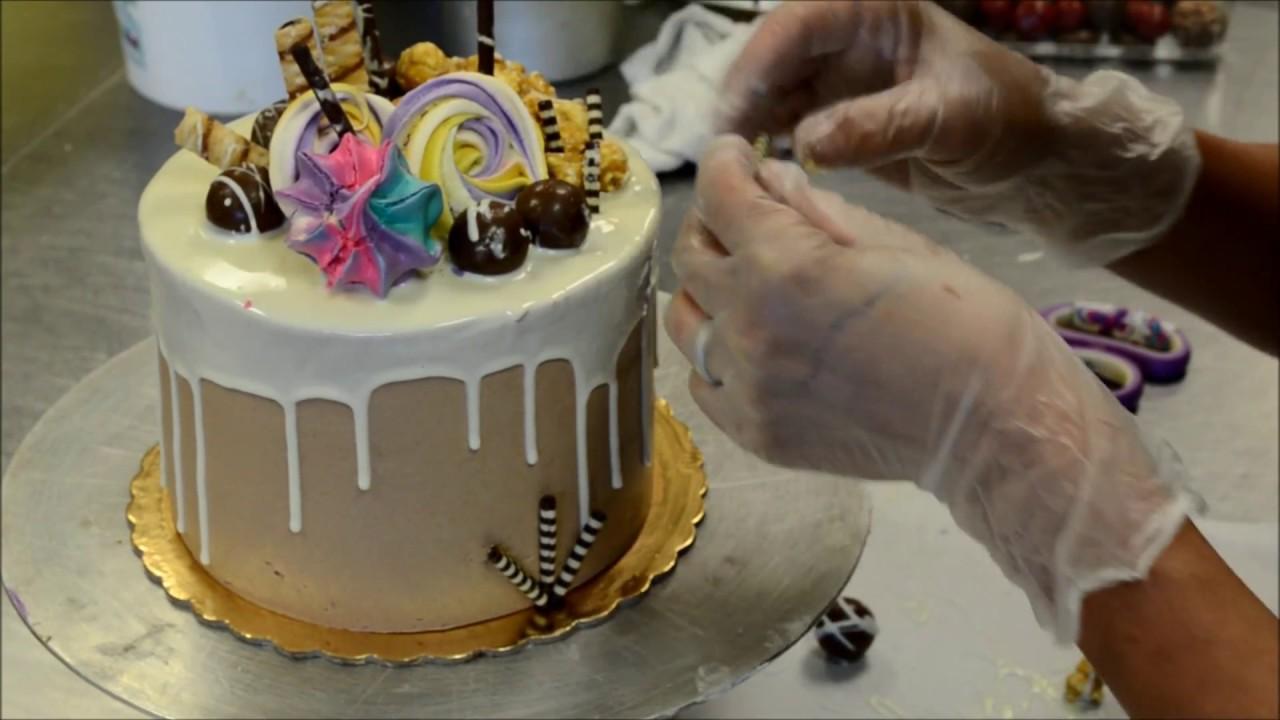 White Chocolate Birthday Cake Decorating Tutorial Youtube