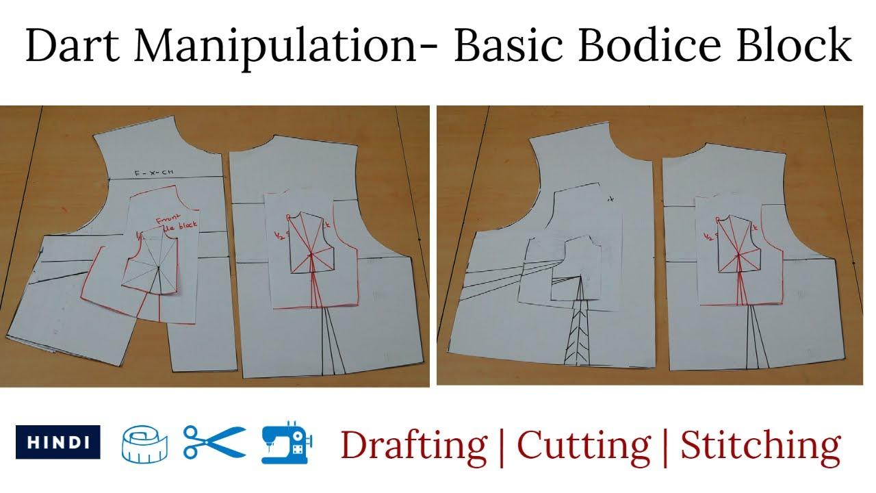 Beginner's Guide On Pattern Making- Dart Manipulation: Day 1- Basic Bodice Block Drafting Tutorial