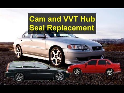 Replacing the cam and VVT hub seals, Volvo cam sprocket hubs, P2 V70, S60, C70, S70, S80, etc.- VOTD