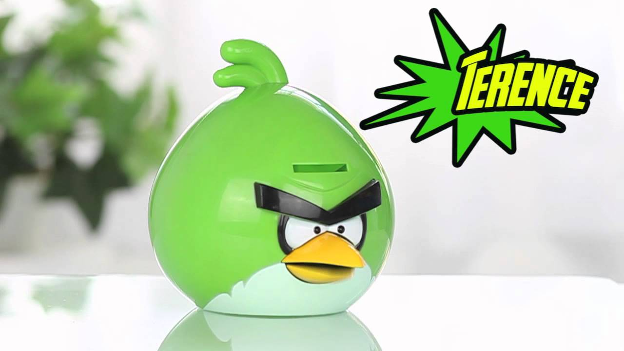 Green angry bird space power