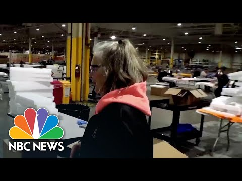 Inside Ford Automotive Factory Producing Medical Equipment To Fight COVID-19 | NBC News NOW