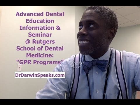 Advanced Dental Education Residency Information Seminar | Dr Darwin Hayes DDS | New Dentists