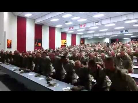 "American marines singing ""Days of Elijah"" (Lirycs)"