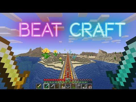 Beat Saber On A Budget (Minecraft Rhythm Game) - Synchronized
