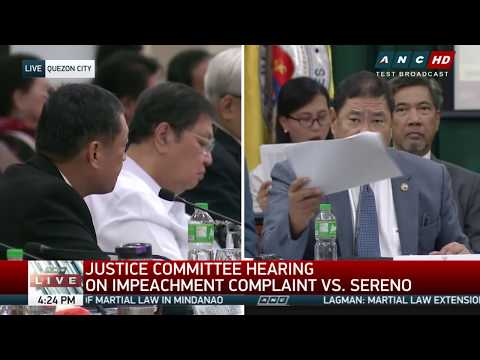 WATCH: House justice committee discusses Sereno impeachment complaint