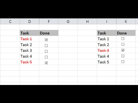 How To Create To Do List or Checklist in Excel - YouTube - Excel Check List