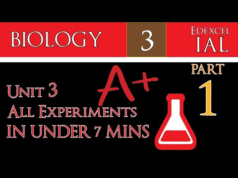 IAL Biology Unit 3 | ALL EXPERIMENTS in UNDER 7 MINS