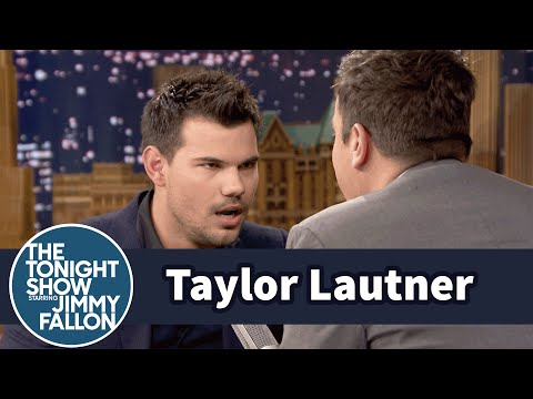 Taylor Lautner Teaches Jimmy the Milky Cow Game