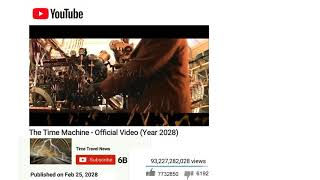 YouTube Video From Year 2028 Time Travel Machine Reveal (Real?)
