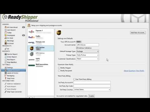 How to Add Shipper Accounts in ReadyShipper Ship Software