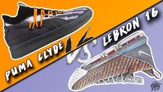 Puma Clyde Court Disrupt vs Nike Lebron 16!