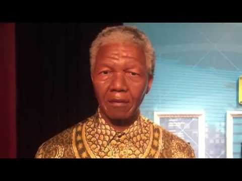 Nelson Mandela at Madame Tussauds Sydney