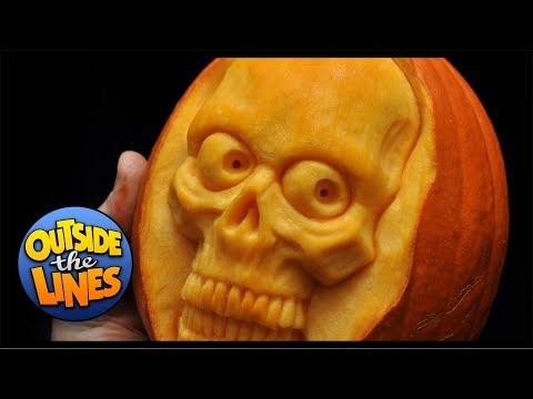 Mini Skull Pumpkin Carving
