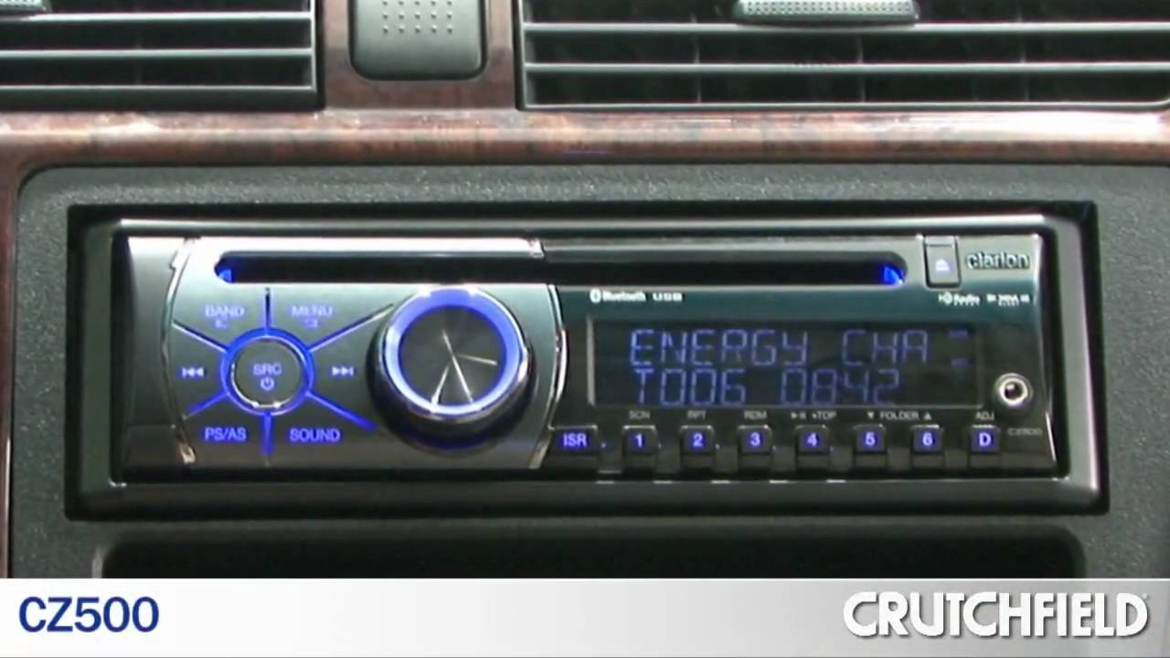 Clarion CD Car Receivers  CZ300   CZ500   Crutchfield Video  YouTube